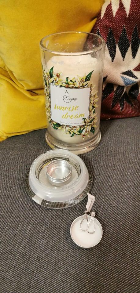 biżuteria ze świeczki surprise candle